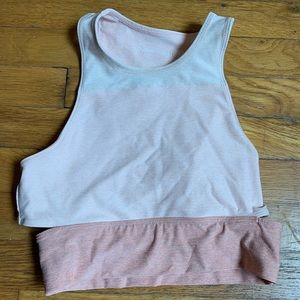 Outdoor voices crop top workout top. Light pink